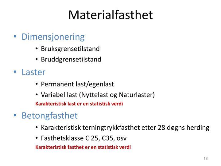 Materialfasthet