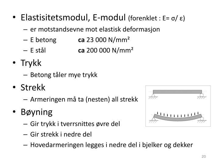 Elastisitetsmodul, E-modul