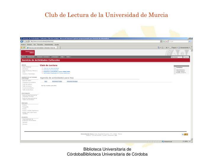 Club de Lectura de la Universidad de Murcia