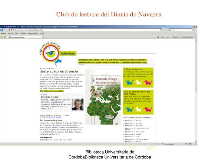 Club de lectura del Diario de Navarra
