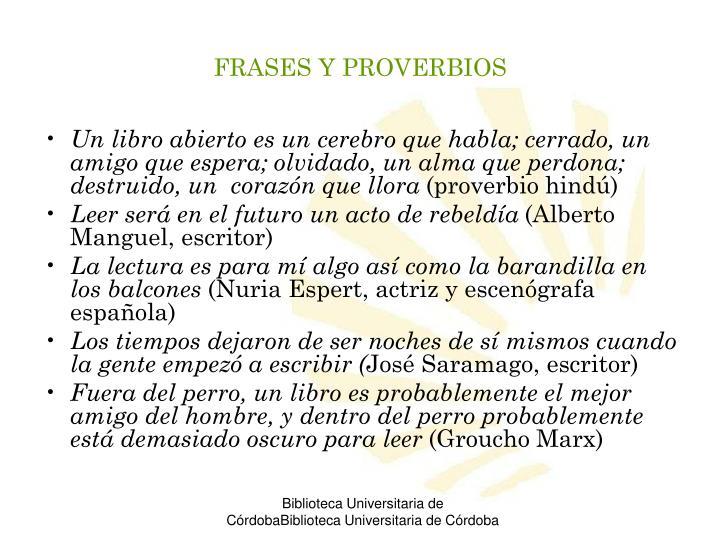 FRASES Y PROVERBIOS