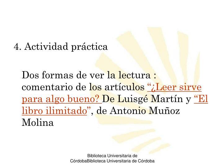 4. Actividad práctica