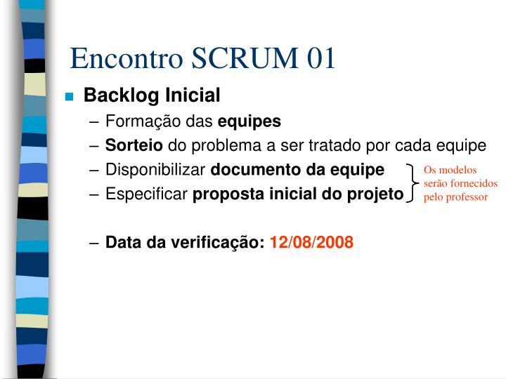 Encontro SCRUM 01