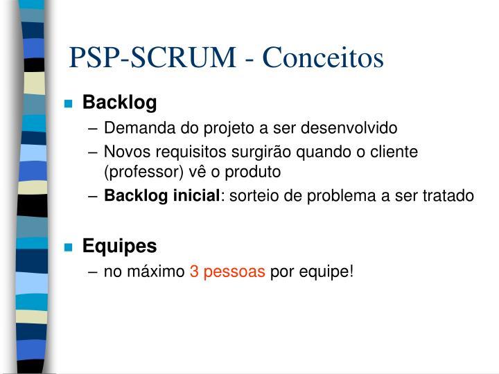 PSP-SCRUM - Conceitos