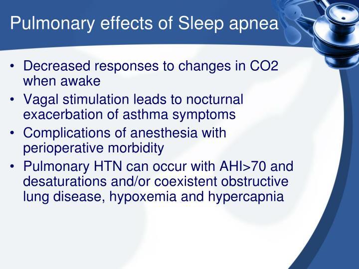 Pulmonary effects of Sleep apnea