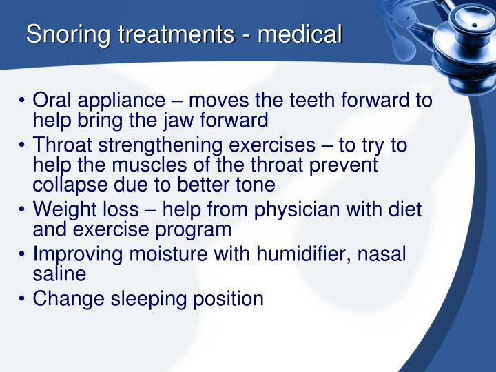 Snoring treatments - medical