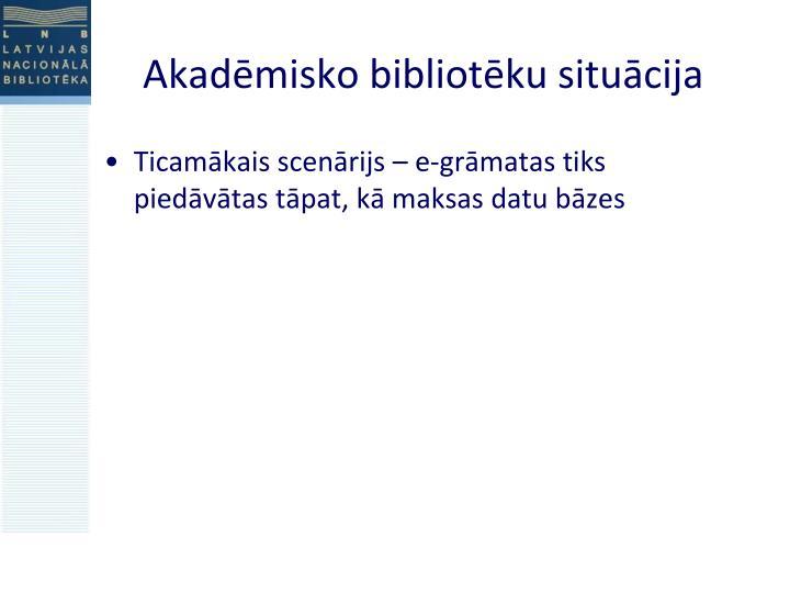 Akadēmisko bibliotēku situācija