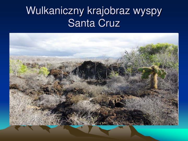 Wulkaniczny krajobraz wyspy Santa Cruz