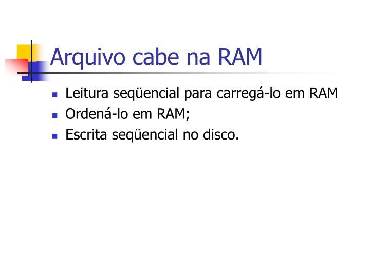Arquivo cabe na RAM