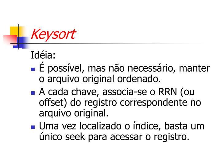 Keysort