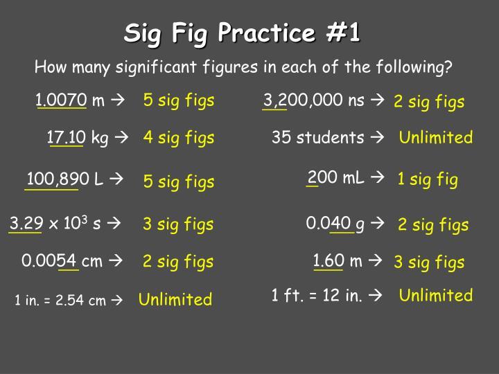 Sig Fig Practice #1