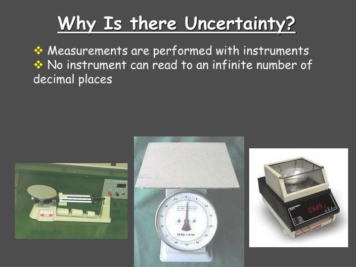 Why Is there Uncertainty?
