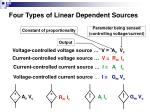 four types of linear dependent sources
