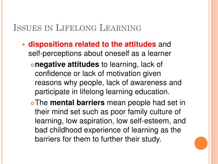 Issues in Lifelong Learning