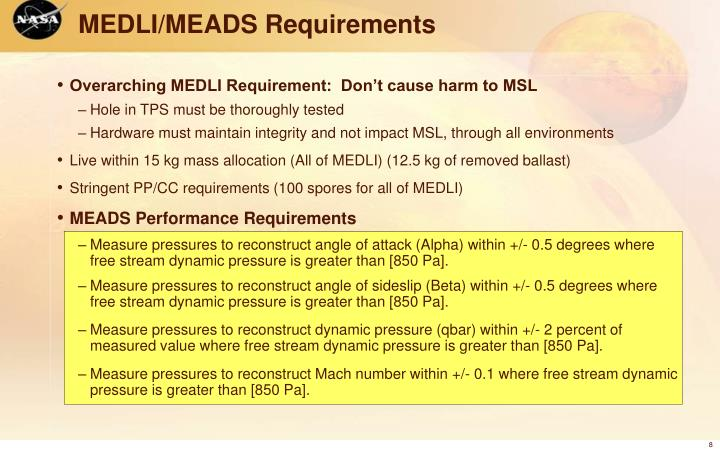 MEDLI/MEADS Requirements