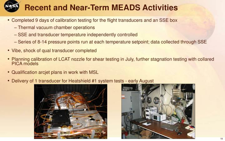 Recent and Near-Term MEADS Activities