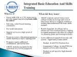 integrated basic education and skills training