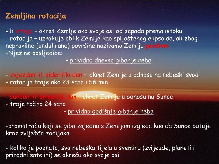 Zemljina rotacija