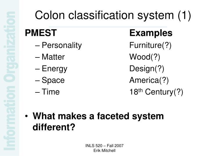 Colon classification system (1)