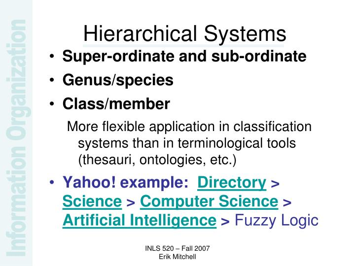 Hierarchical Systems