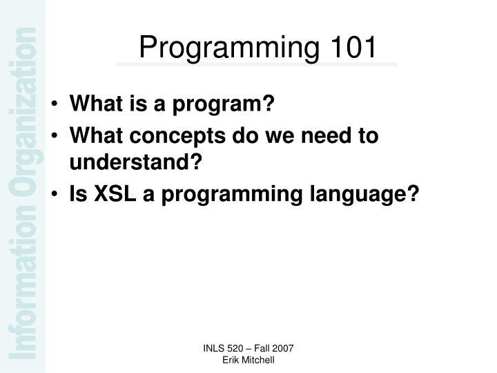 Programming 101