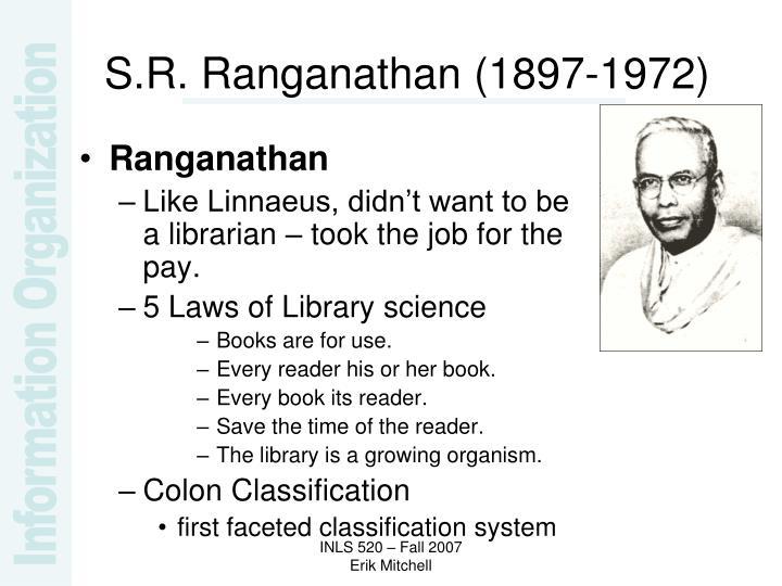 S.R. Ranganathan (1897-1972)