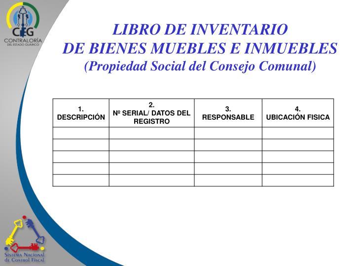LIBRO DE INVENTARIO
