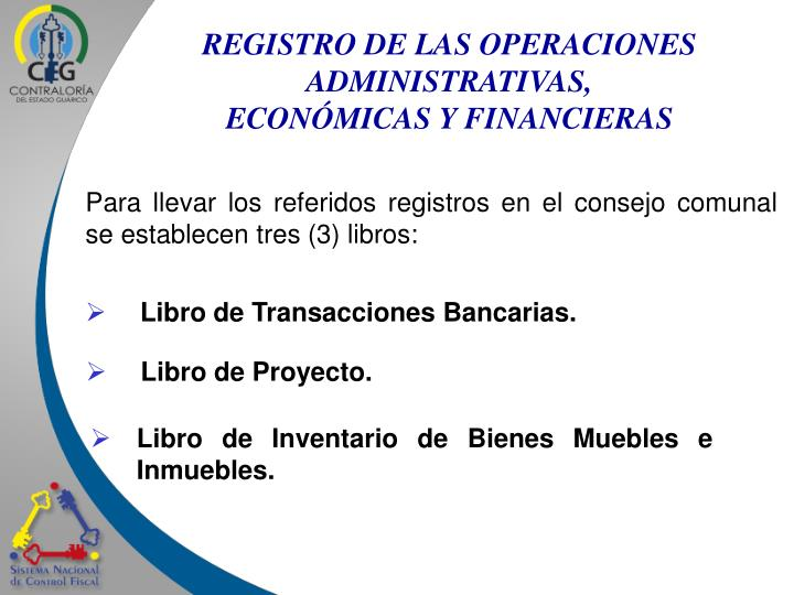 REGISTRO DE LAS OPERACIONES ADMINISTRATIVAS,