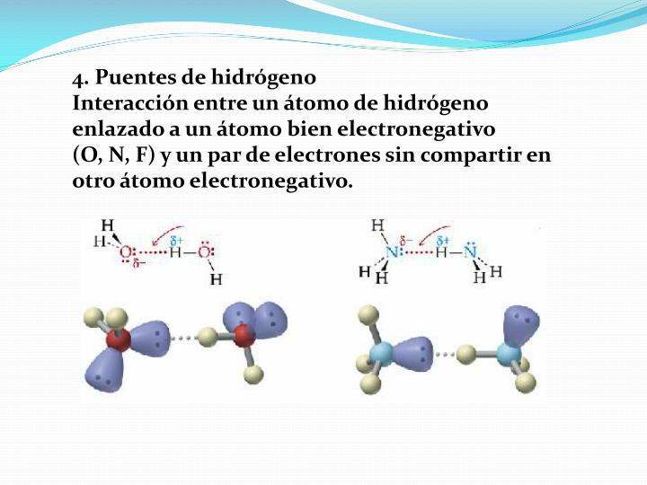 4. Puentes de hidrógeno