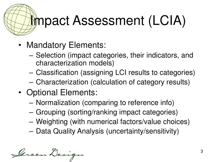 Impact Assessment (LCIA)