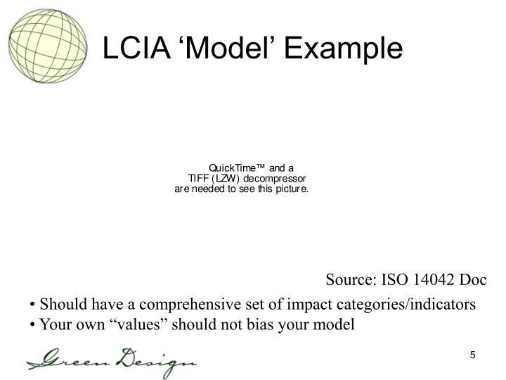 LCIA 'Model' Example