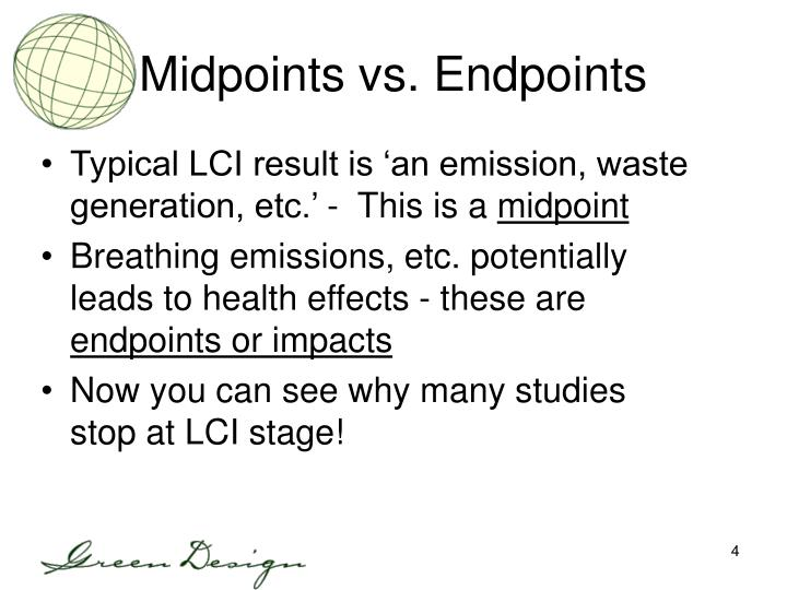 Midpoints vs. Endpoints