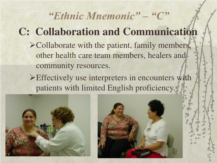 """""""Ethnic Mnemonic"""" – """"C"""""""