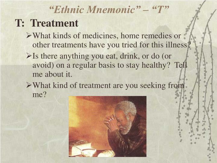 """""""Ethnic Mnemonic"""" – """"T"""""""
