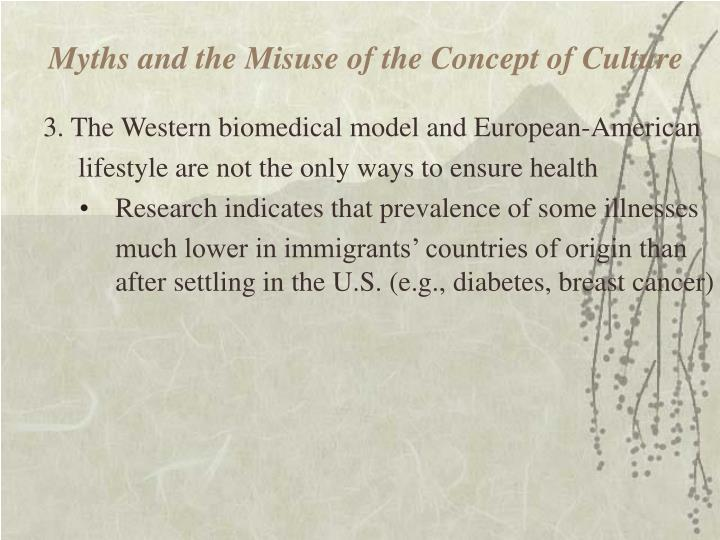 Myths and the Misuse of the Concept of Culture