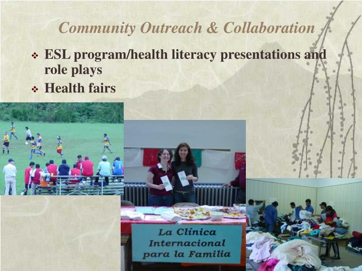 Community Outreach & Collaboration