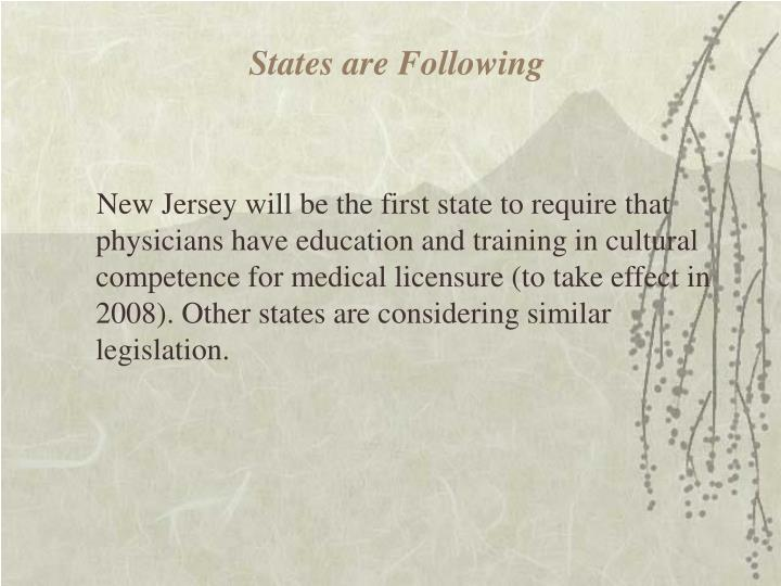 States are Following