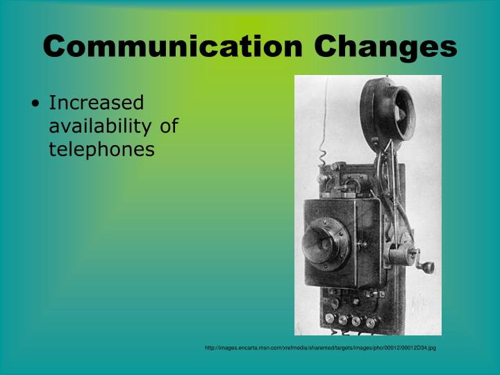 Communication Changes