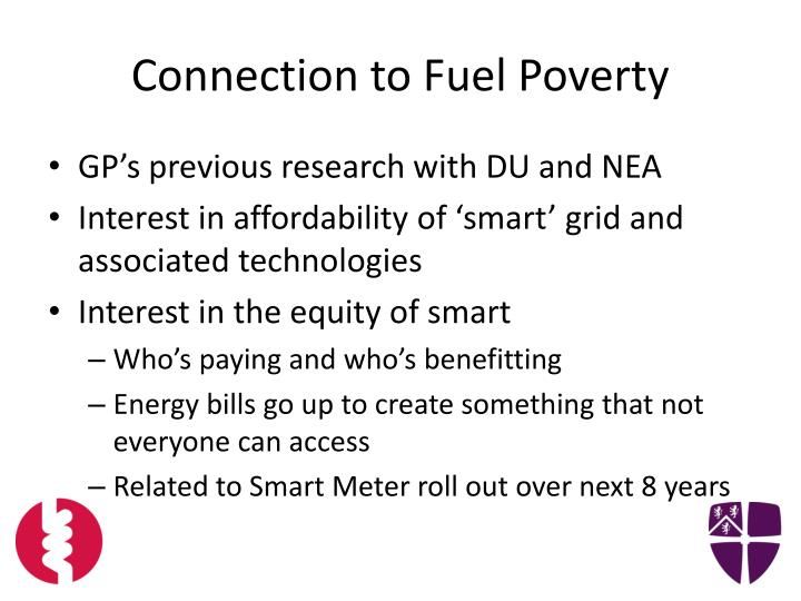 Connection to Fuel Poverty