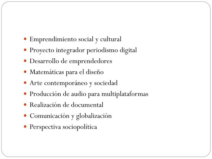 Emprendimiento social y cultural