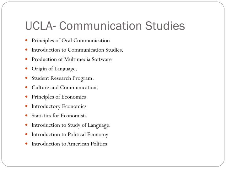 UCLA- Communication Studies