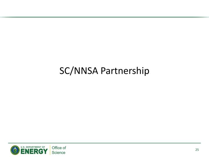 SC/NNSA Partnership