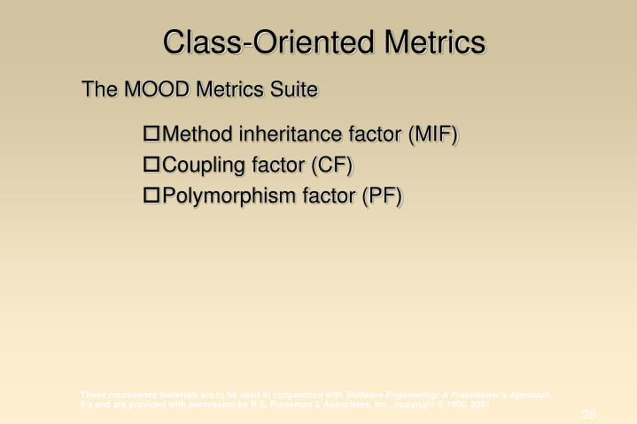 Class-Oriented Metrics