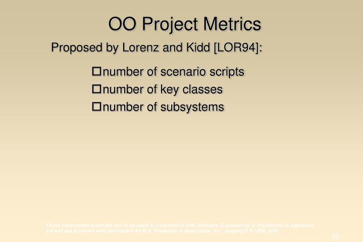 OO Project Metrics
