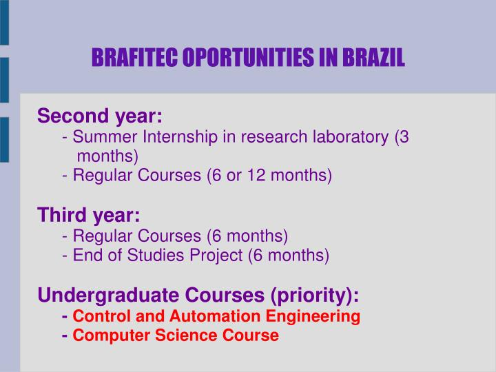 BRAFITEC OPORTUNITIES IN BRAZIL