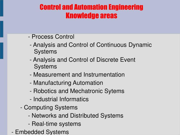 Control and Automation Engineering