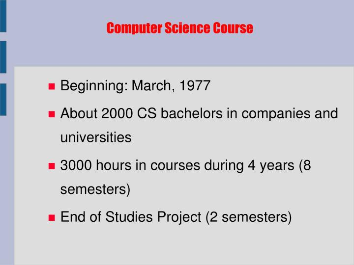 Computer Science Course