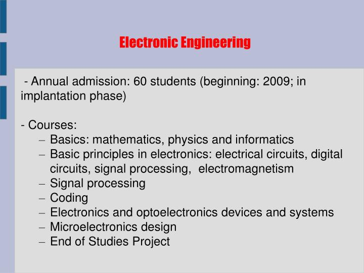 Electronic Engineering