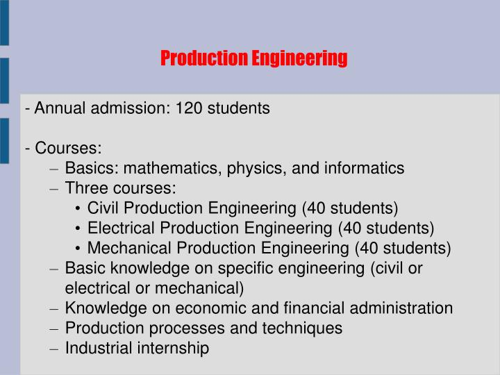 Production Engineering