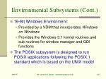 environmental subsystems cont